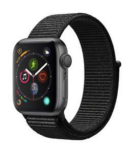 Apple Watch Series 4 GPS 40mm silber Aluminium Sport Loop schwarz (Amazon.fr)