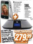 Ipod Touch 8GB + JBL On Time 200P Lautsprechersystem bei Expert für 279,99 €