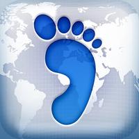 [iTunes] iOS Freebies: Footprint - Where I've Been (4,6*) - die App für Weltenbummler, auf Deutsch