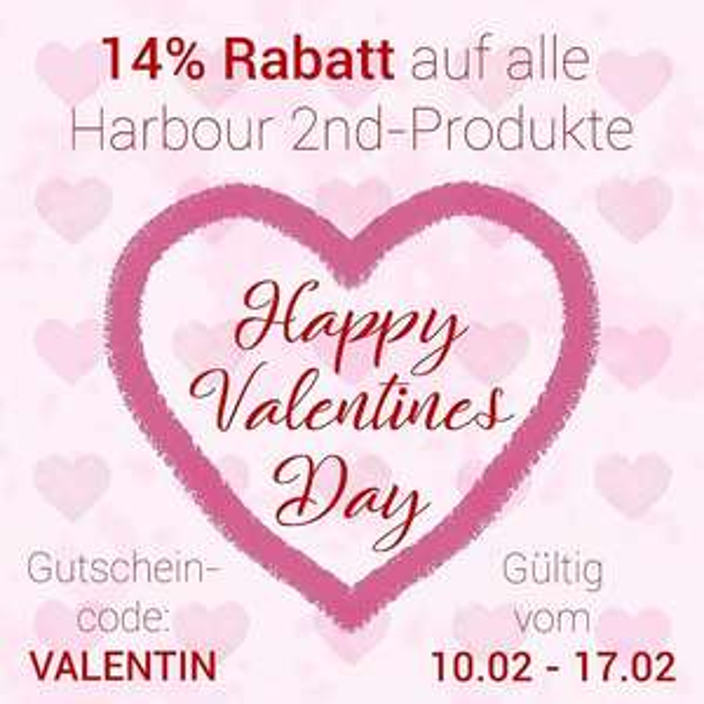 19% Rabatt auf alles von Harbour 2nd : 14% mit Gutschein + 5% mit Vorkasse