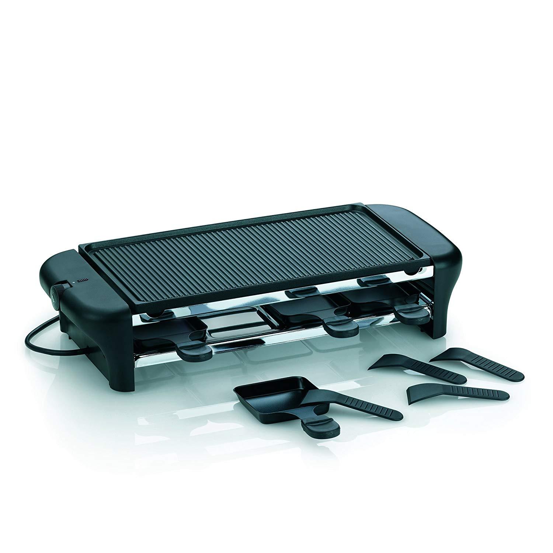 [0815.eu] Kela 64002 Raclette mit Grillplatte, Aluguss antihaftbeschichtet, Für 8 Personen, 1000 W, 230 V, Chalet
