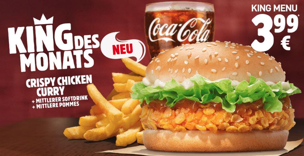 [Burger King] King des Monats: CRISPY CHICKEN CURRY im King Menü für 3,99€