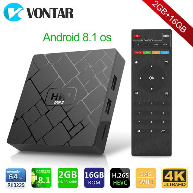 HK1 mini Smart TV Box Quad-Core 2/16GB | 4K, H.265, Android 8.1 [AliExpress]