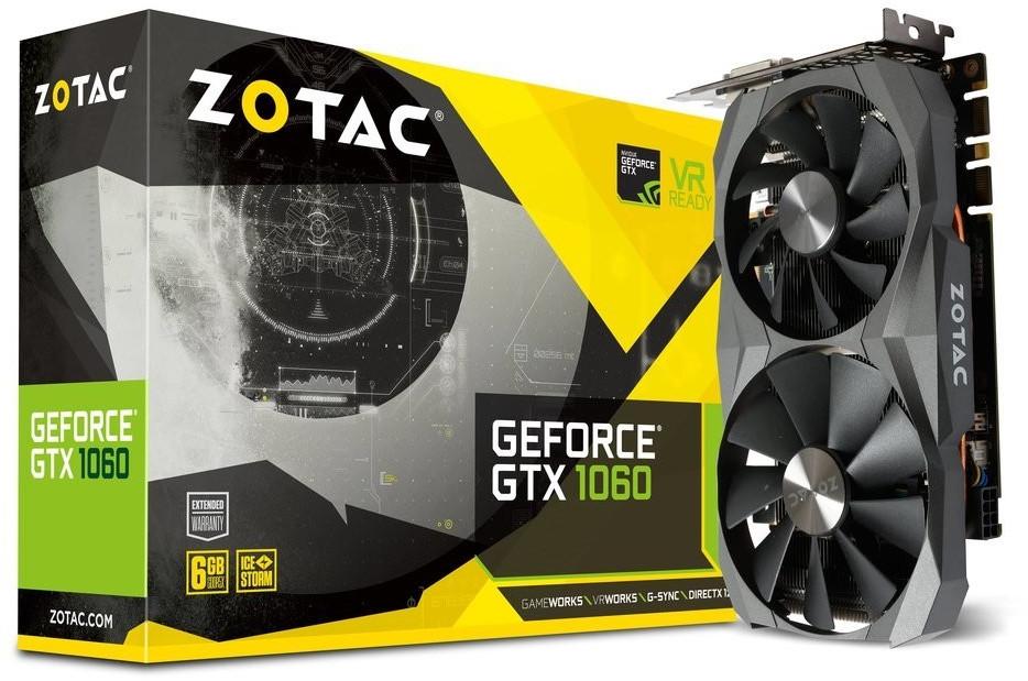 Zotac GeForce GTX 1060 6GB (1506/1708 MHz, Dual-Slot, 3x DisplayPort 1.4, HDMI 2.0b, DVI) + Fortnite Counterattack Set