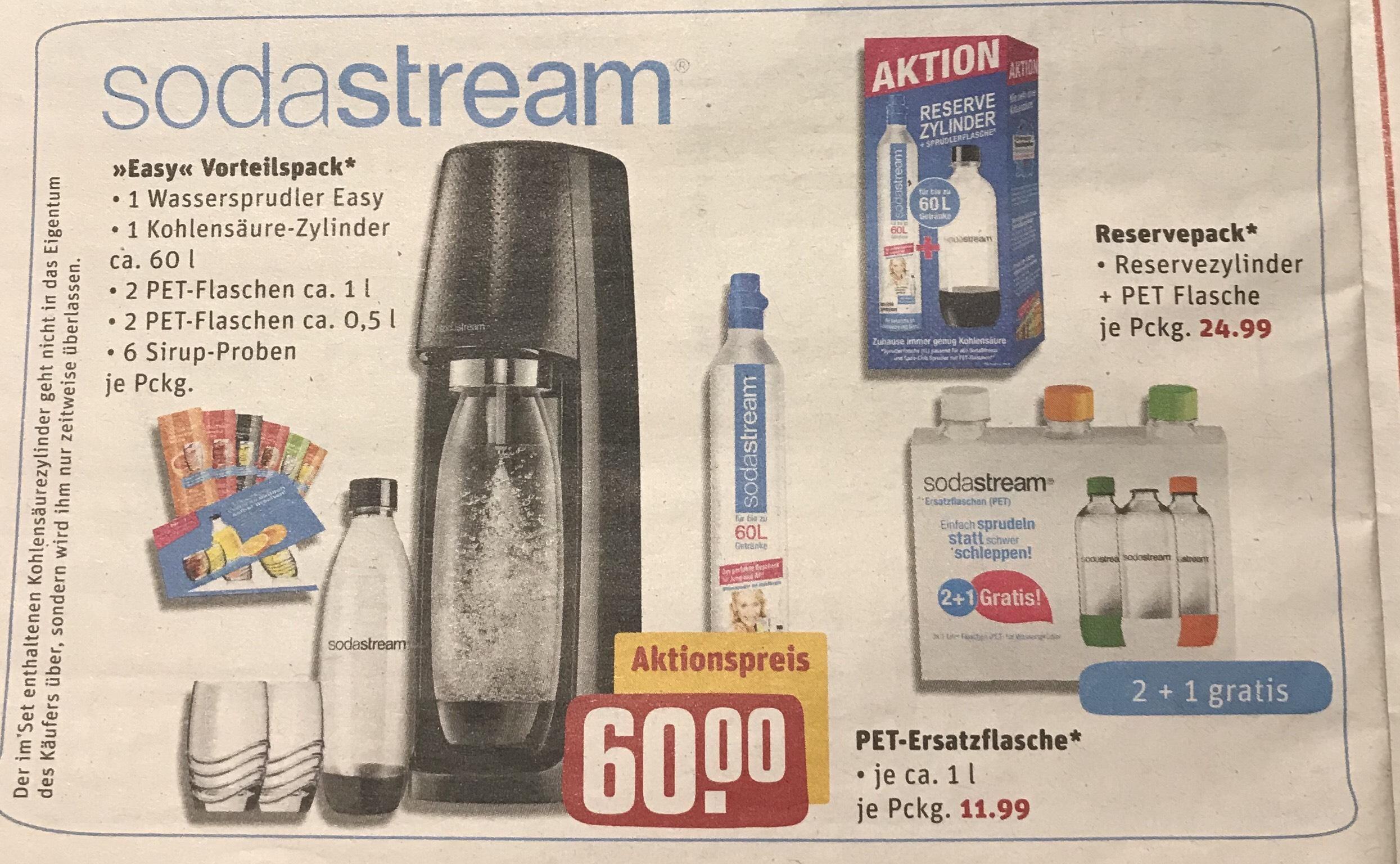 Sodastream Reservepack mit PET Flasche REWE