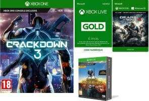Crackdown 3 + 6 Monate Xbox Live + PUBG + Gears of War 4 (Xbox One) für 73,51€ (Fnac)