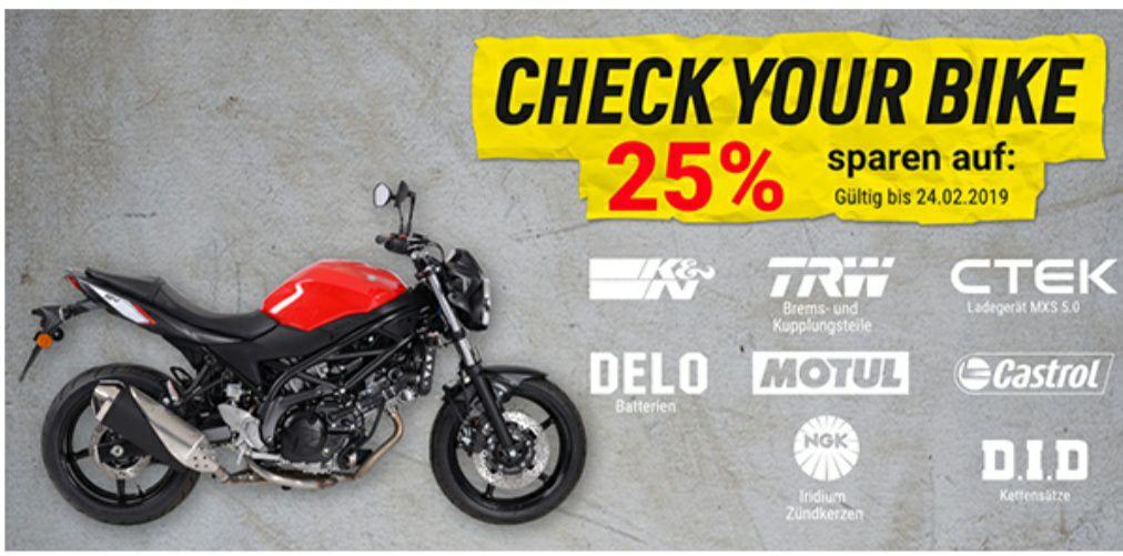 Louis Motorrad 25% auf Verschleiß und Pflege/Wartungsteile Check your Bike 2019