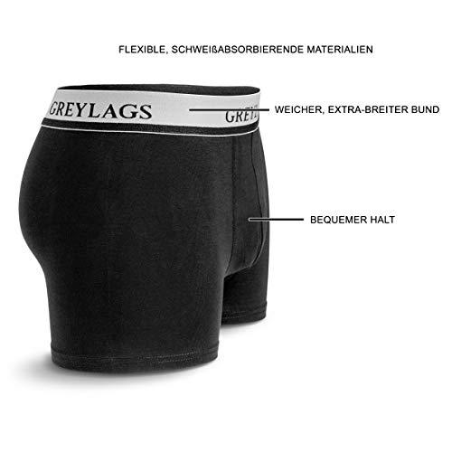 Greylags Premium Boxershorts/Retroshorts für Herren   Unterwäsche im praktischen 6er Pack   lang