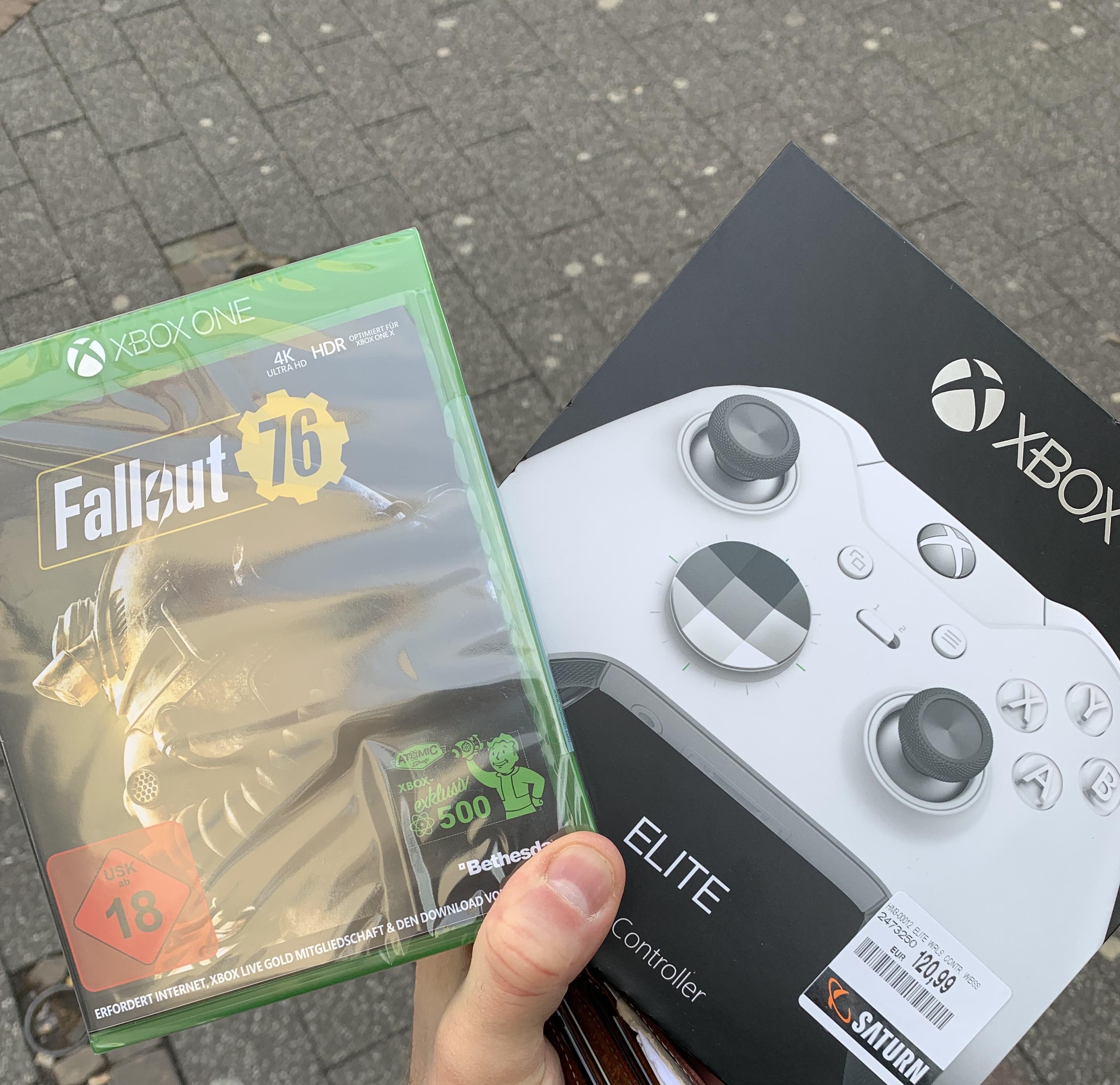 [Lokal Köln] XBOX one Elite Controller plus Fallout 76