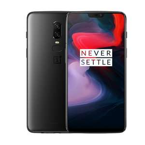 OnePlus 6 Smartphone 6,28 Zoll 19:9 Touch-Display, 256 GB interner Speicher, Android 8.1 Oreo / Oxygen OS 5.1, Midnight Black
