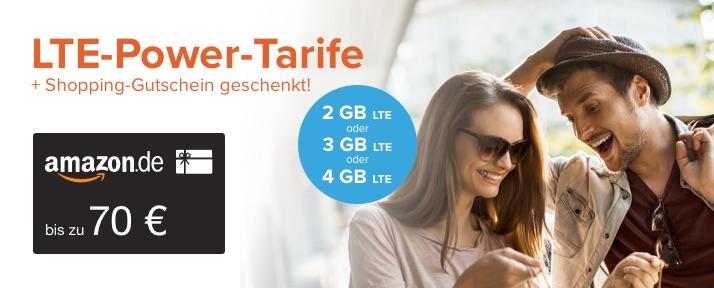 Nur 6 Monate Laufzeit: z.B. 4GB LTE Allnet-Flat + Festnetznummer + 100min International + 70€ Amazon-Gutschein für 14,99€/M. | eff. 4,99€/M *UPDATE* jetzt mit JBL Go 2 gratis dazu