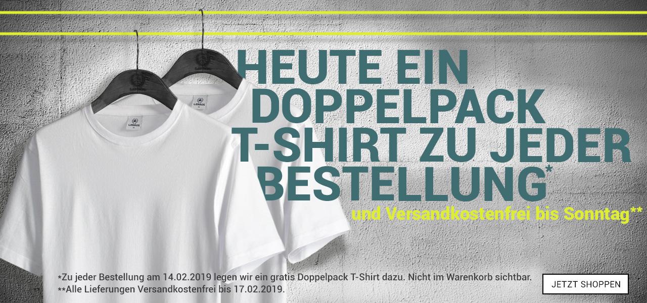 LERROS 2x weiße basic T-Shirt im Doppelpack zusätzlich bis Sonntag versandkostenfrei