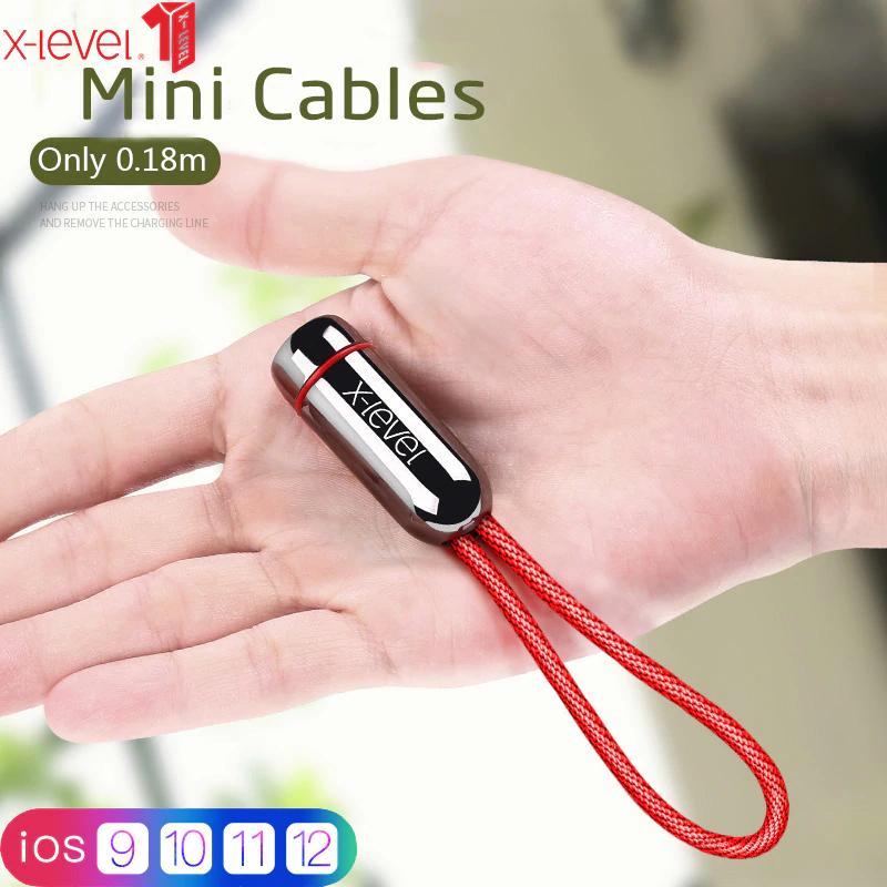 X-level Schlüsselanhänger USB Kabel für iPhone mit Schnellladedaten Funktion