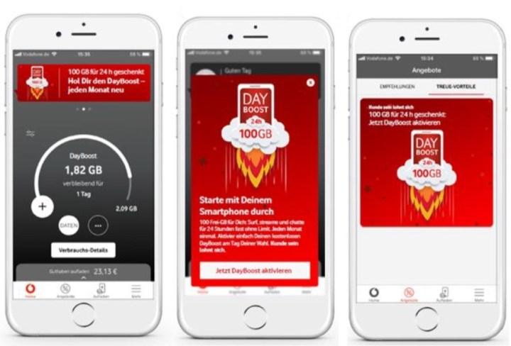 Vodafone DayBoost: 6 x 100 GB Datenvolumen geschenkt