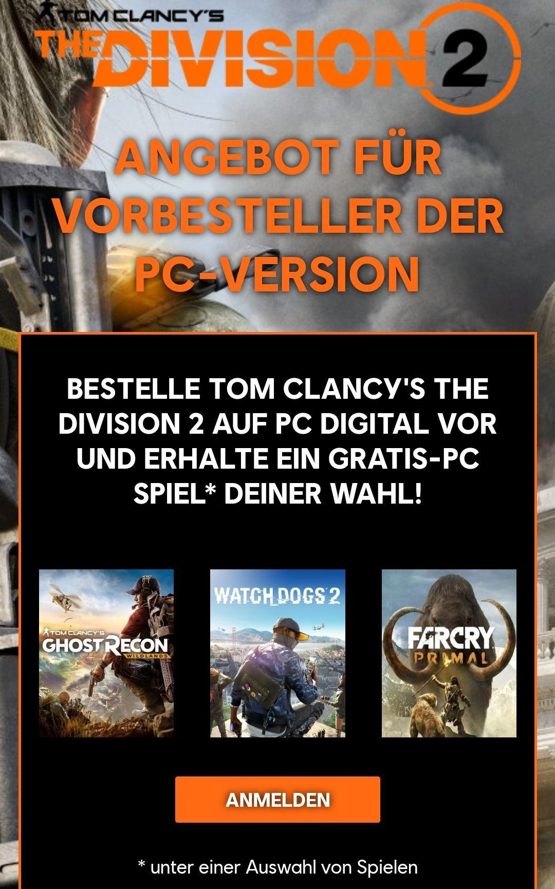 The Division 2: PC-Vorbesteller erhalten ein Spiel als Geschenk