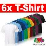 6x FRUIT OF THE LOOM T-Shirts Gr. S M L XL XXL XXXL 3XL für 13,99€ nur heute!