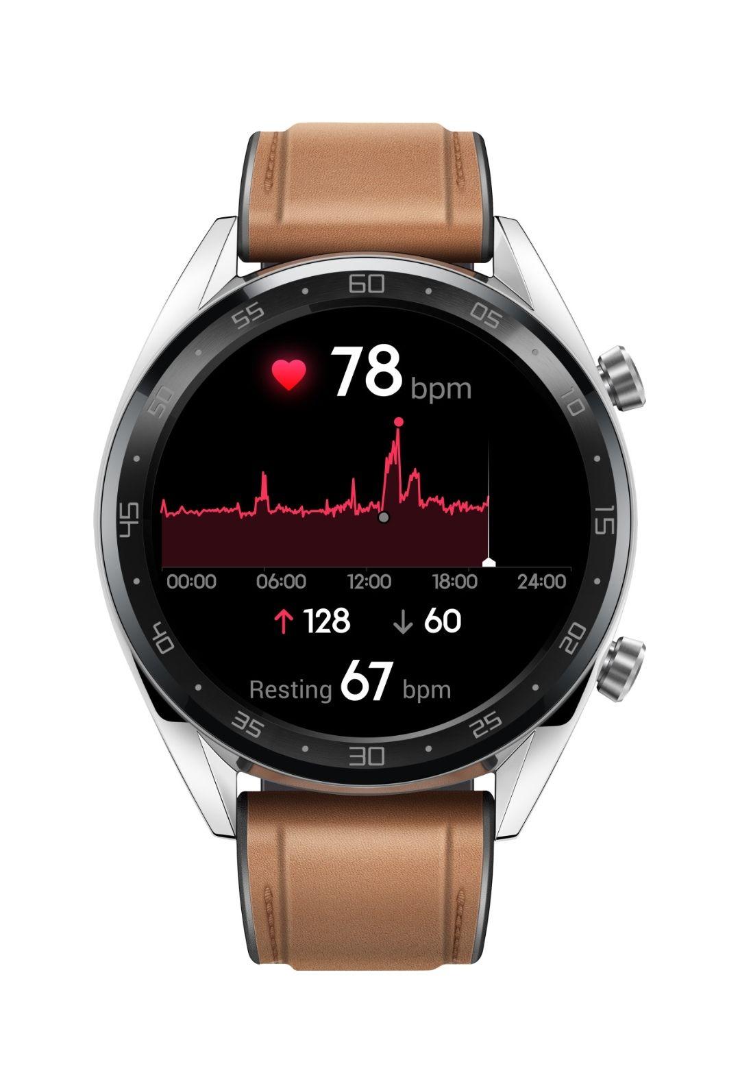 HUAWEI Watch GT Smartwatch Edelstahl, Silikon, 140-210 mm, Saddle Brown für 149€ [Lokal Media Markt Berlin]