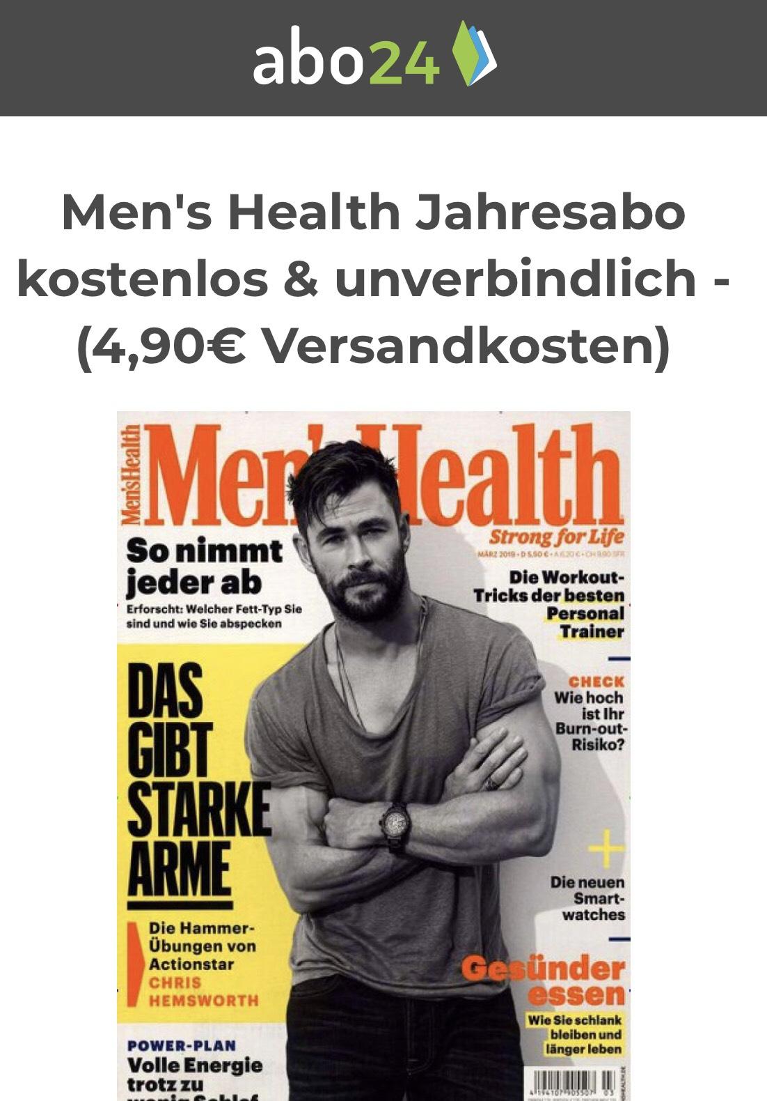 Ein Jahr Men's Health Print-Abo - endet automatisch - kostet weniger als ein Heft am Kiosk