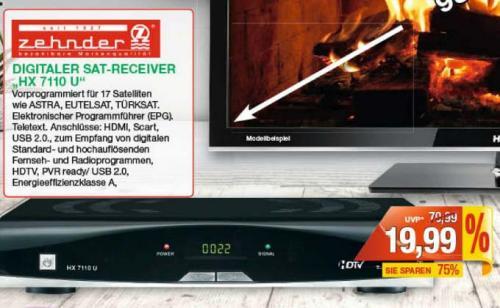 Lokal Marktkauf RE: HDTV SAT Receiver Zehnder HX 7110U