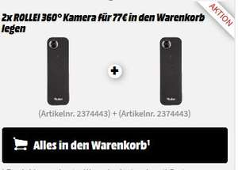 2 x ROLLEI 40319 360° Kamera 2K für zusammen 77€ versandkostenfrei [Media Markt - online]