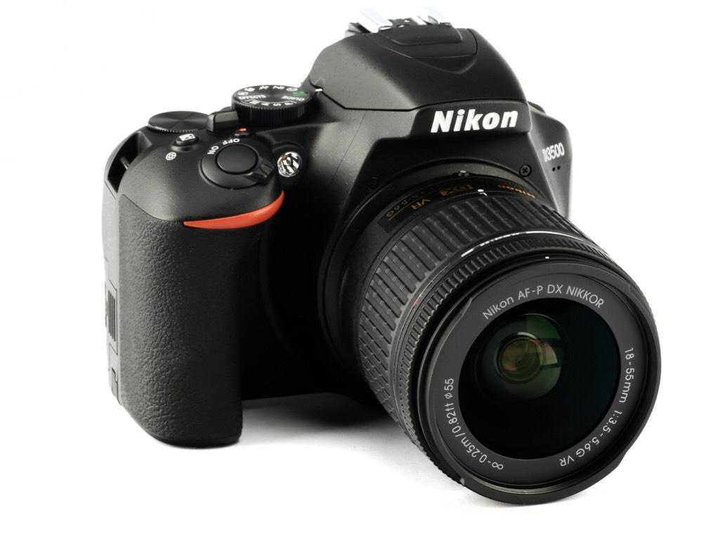 Nikon D3500 Kit AF-P DX 18-55 mm VR schwarz digitale Spiegelreflexkamera für  399€