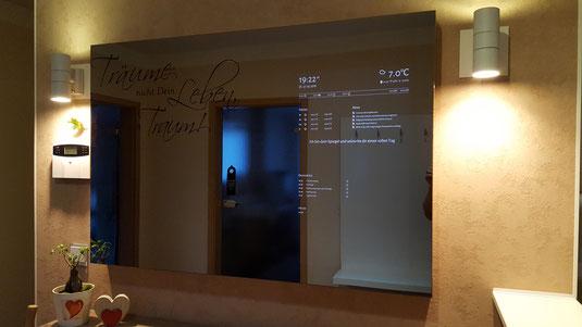 Mirropane™ Chrome Spy 500x700 Smart/Magic Mirror Venzianischer Spiegel Spionspiegel