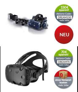 Alternate HTC VIVE Deal 70 Euro Rabatt auf Standard 150 Euro auf Pro Kit