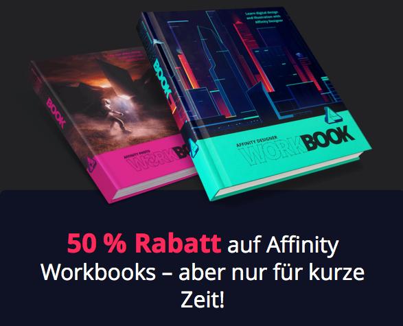 Affinity Photo & Designer Workbook jeweils um 50% reduziert