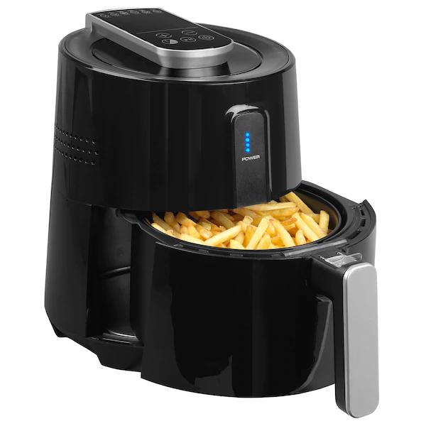 [Medion] MEDION® Digitale Heißluftfritteuse MD 17768, ölfreies Frittieren, 1300 Watt, Temperaturkontrolle bis 200°C (XXL für 89,95€)