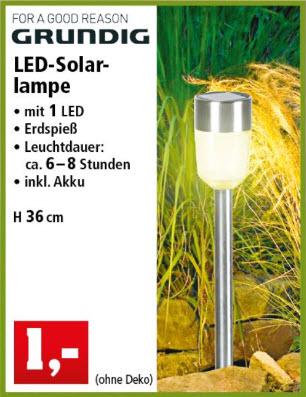 [Thomas Philipps] Grundig LED Solarlampe für den Garten