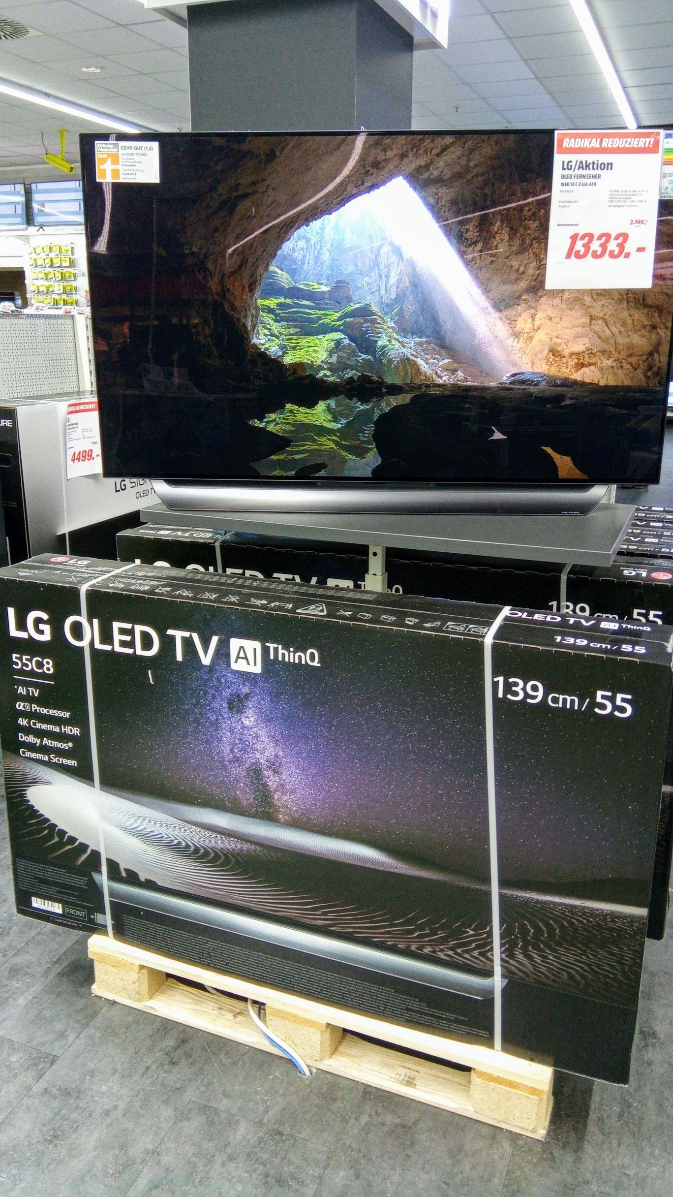 Media Markt Köln: OLED TV von LG (55 B87 LC C, 55 C8 LLA, 65 W8 PLA) und Sony (65 AF9 BAEP) im Angebot
