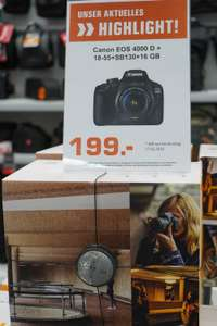 [Lokal Saturn Berlin-Europacenter] Canon EOS 4000D Kit