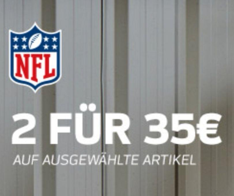 2 NFL T-Shirts für 35€ u.a. Patriots, Seahawks, Packers und viele mehr! Versandkosten sparen mit dem Code NFLAFFIL