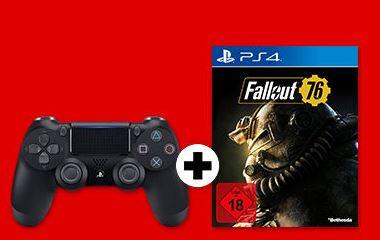 PS4 Controller + Fallout 76 [MediaMarkt]