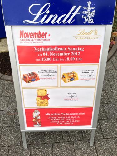 [Lokal Aachen] Lindt Teddy 0,90€, Fioretto Orange-Marzipan und Zabaione 1,90€, Lindor Herzdose 3,50€ und auf (fast) alle anderen Artikel ca. 30% im Vergleich zum Ladenpreis