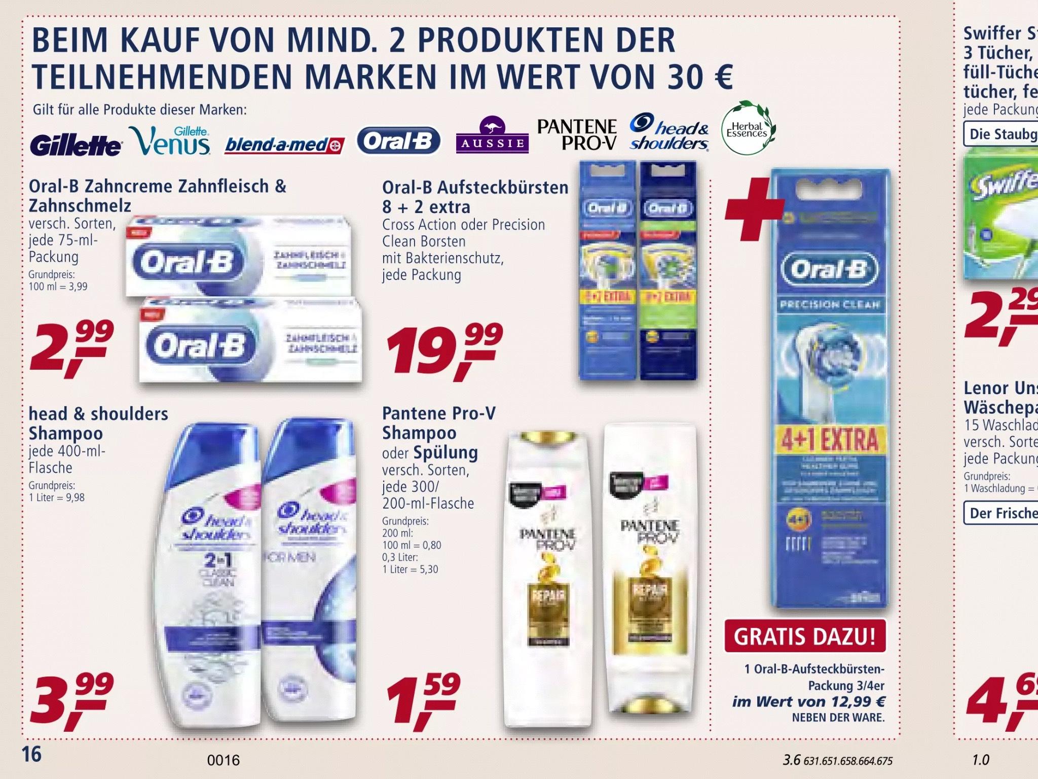 [Real] Bundesweit Oral-B Aufsteckbürsten 25 Stück für 39,98 (Stückpreis 1,60€)