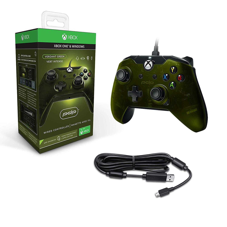 PDP Xbox One Wired Controller - Grün (Xbox One/PC) für 22,50€ (Amazon UK)