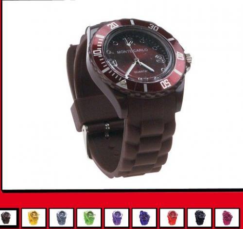 Silikon Armbanduhr Monte Carlo verschiedene Farben