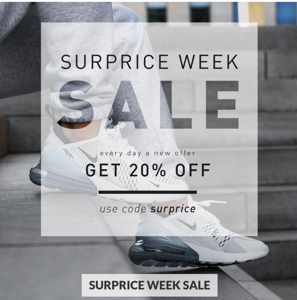 """SUPRICE SALE bei Asphaltgold 20% auf alle Nike Air Max Modelle mit dem Code """"SURPRICE"""""""