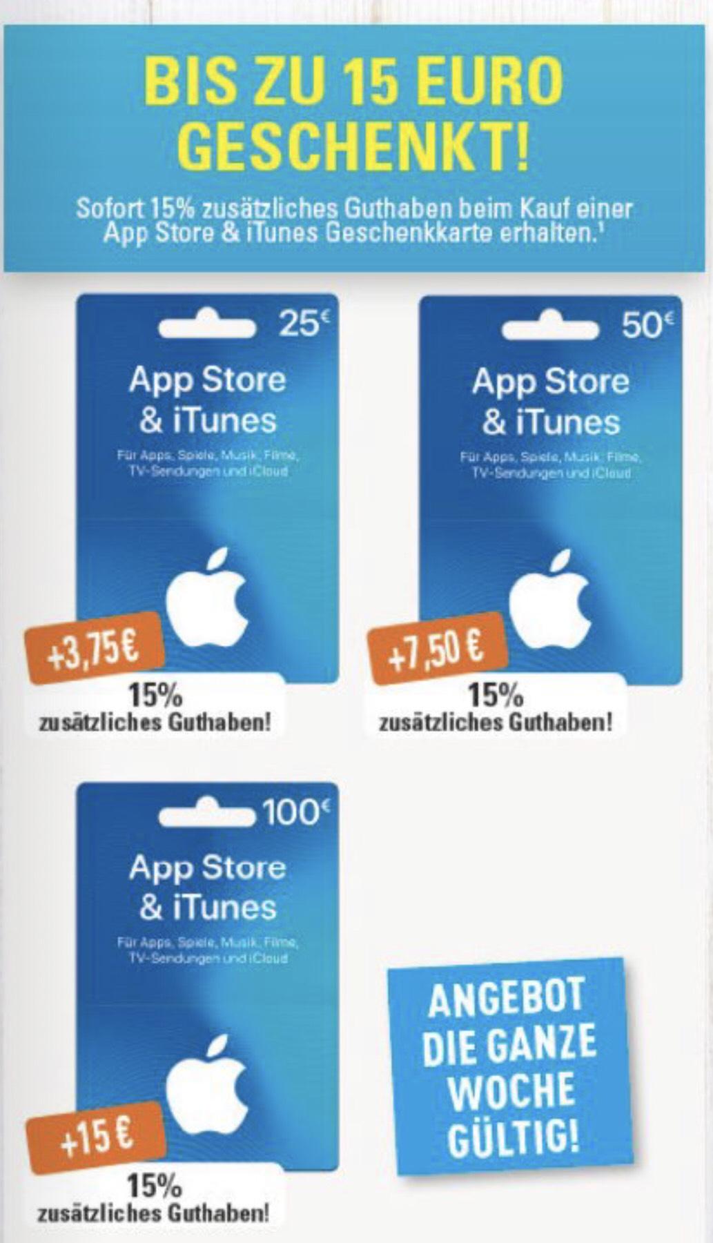 [Marktkauf] 15% Extra iTunes Guthaben