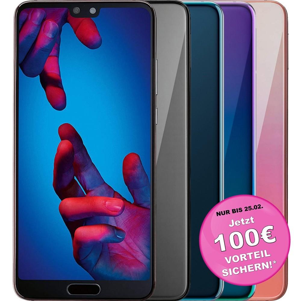 Huawei P20 128GB schwarz/blau für effektiv 313,91€ dank 100€ Cashback