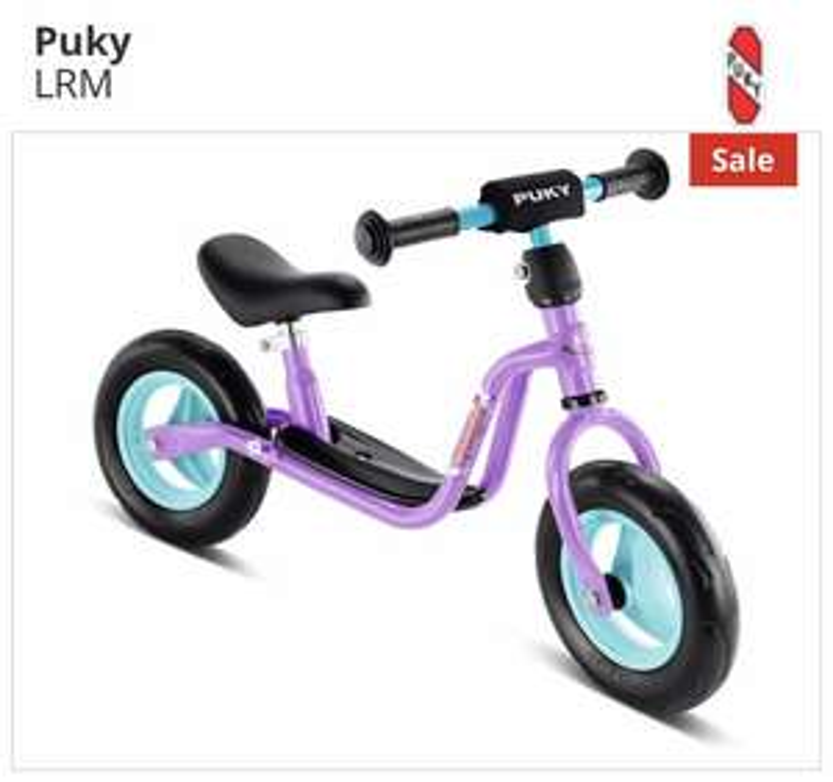 Puky Laufrad LR M Fieder oder Blau (Fußball) plus Fahrradklingel