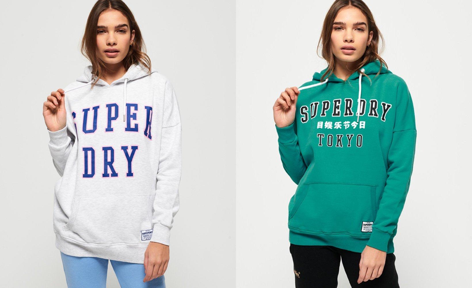"""Superdry Hoodie """"Bleeker"""" in 2 Farben und allen Größen zwischen 34 und 44"""