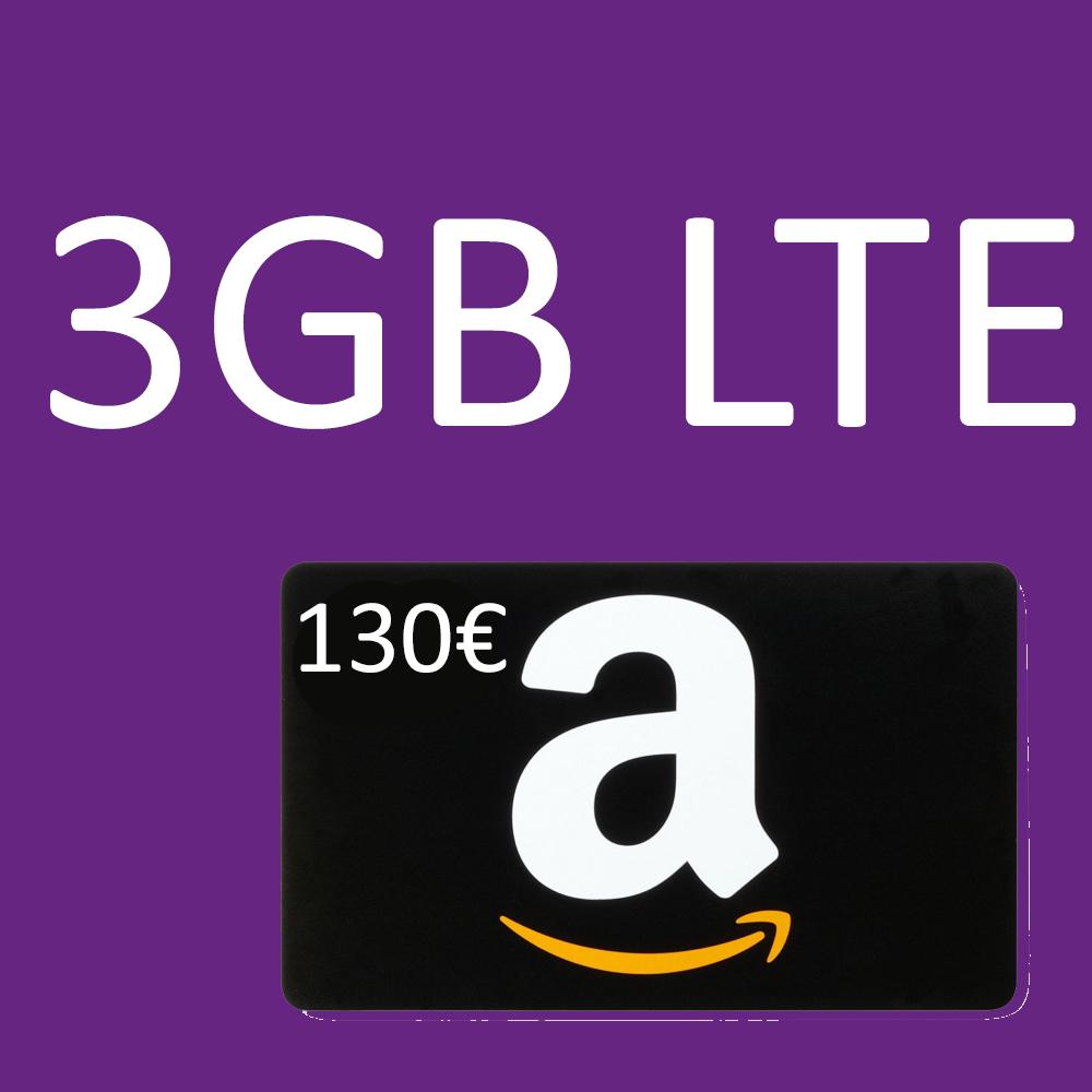 [Tarifhaus] 3GB LTE Allnet-Flat + 130€ Amazon Gutschein für 12,99€/M   42,07€ Gewinn möglich