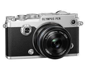 Olympus PEN F MFT Systemkamera mit Olympus 17mm f/1.8 Objektiv [amazon.it]