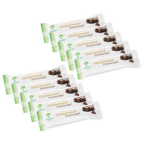 10 Glücksmoment Proteinriegel Schoko-Brownie (10x45g, MHD 28.02.) für 4,48€ versandkostenfrei