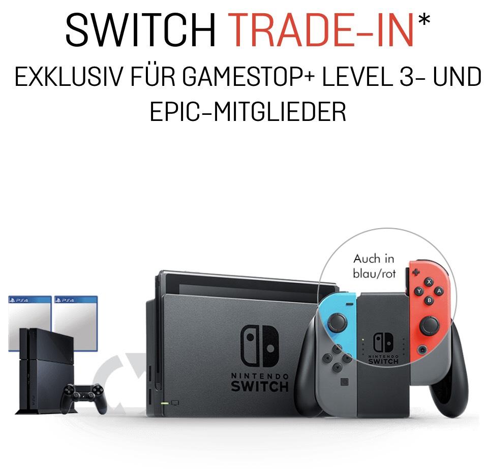 [Gamestop] Switch zum Tausch für PS4+1Controller+2Spiele (nicht-Mitglied 129,99€)
