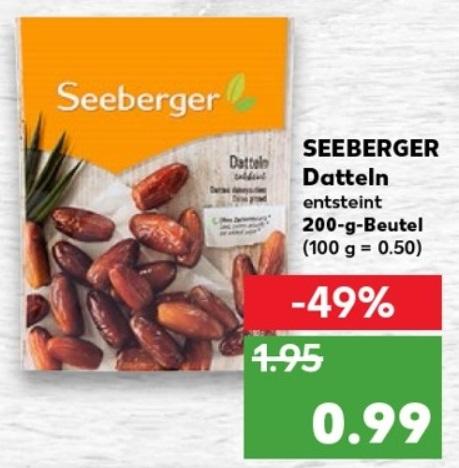 Seeberger Datteln entsteint und ohne Zuckerzusatz 200g ab 21.02. (Kaufland bundesweit)
