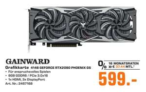 [Regional Saturn Kleve] Gainward GeForce RTX 2080 Phoenix Golden Sample, 8GB GDDR 6 (3x DisplayPort, HDMI, USB-C) für 599,-€