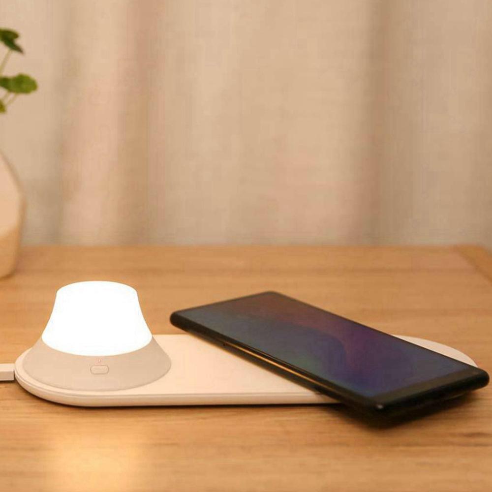 Xiaomi Yeelight kabelloses ladegerät mit LED nachtlicht magnetisch attraktion schnellladung für iphone Samsung Huawei xiaomi telefon